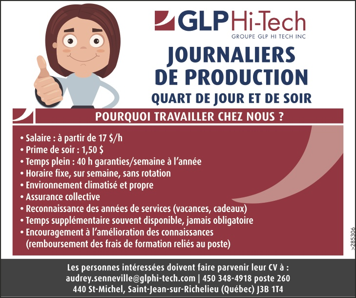 JOURNALIERS DE PRODUCTION